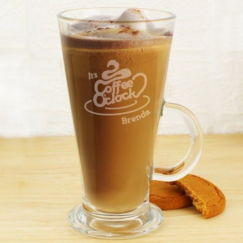 Coffee O Clock Latte Glass